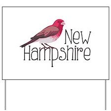 New Hampshire Finch Yard Sign