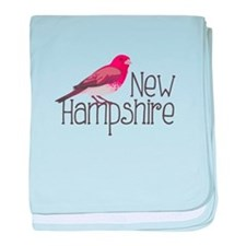 New Hampshire Finch baby blanket