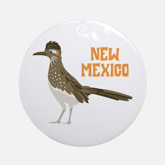 NEW MEXICO Roadrunner Ornament (Round)