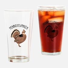 PENNSYLVANIA Grouse Drinking Glass
