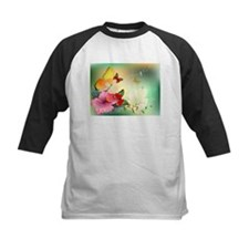 Flowers with butterfly Baseball Jersey