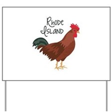 RhoDe IsLaND Red Chicken Yard Sign