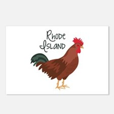 RhoDe IsLaND Red Chicken Postcards (Package of 8)