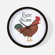 RhoDe IsLaND Red Chicken Wall Clock