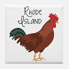 RhoDe IsLaND Red Chicken Tile Coaster