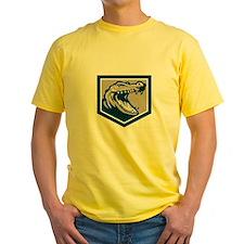 Alligator Head Snout Retro T-Shirt