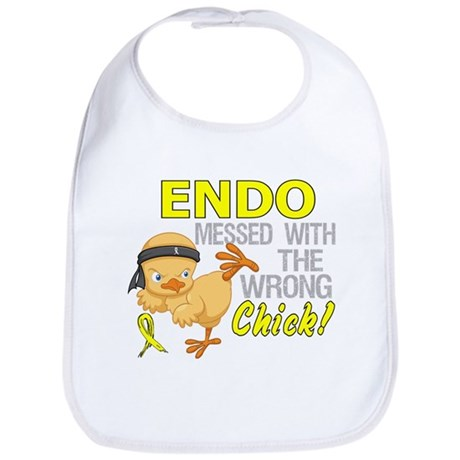 Messed With Wrong Chick 3 Endometriosis Bib