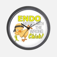 Messed With Wrong Chick 3 Endometriosis Wall Clock