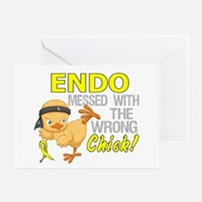 Messed With Wrong Chick 3 Endometrio Greeting Card