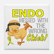Messed With Wrong Chick 3 Endometrios Tile Coaster