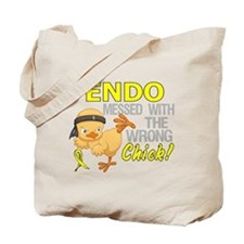 Messed With Wrong Chick 3 Endometriosis Tote Bag