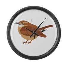 Great Wren Large Wall Clock