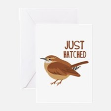 JUST HATCHED Greeting Cards