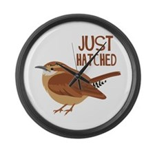 JUST HATCHED Large Wall Clock