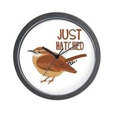 JUST HATCHED Wall Clock