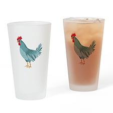 Blue Hen Drinking Glass