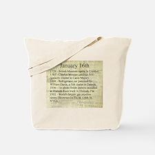 January 16th Tote Bag