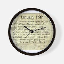 January 16th Wall Clock