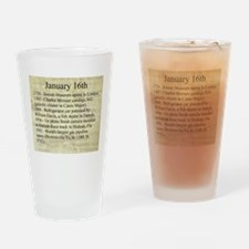 January 16th Drinking Glass