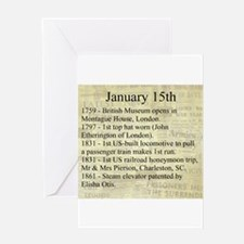 January 15th Greeting Cards