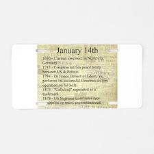 January 14th Aluminum License Plate