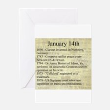 January 14th Greeting Cards
