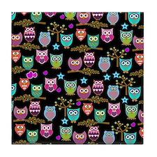 happy owls Tile Coaster