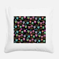 happy owls Square Canvas Pillow