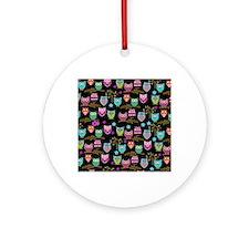 happy owls Round Ornament