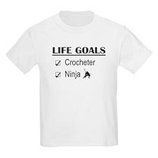 Crocheter Ninja Life Goals T-Shirt