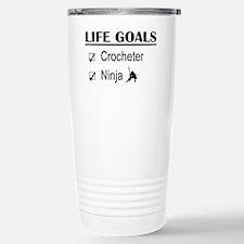Crocheter Ninja Life Go Travel Mug
