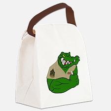 Sgt Gator  Canvas Lunch Bag