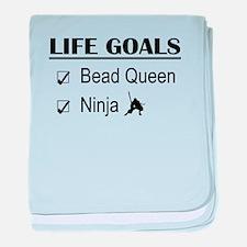 Bead Queen Ninja Life Goals baby blanket