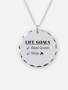 Bead Queen Ninja Life Goals Necklace