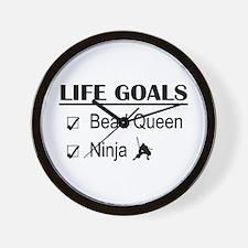 Bead Queen Ninja Life Goals Wall Clock