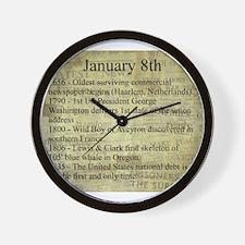 January 8th Wall Clock