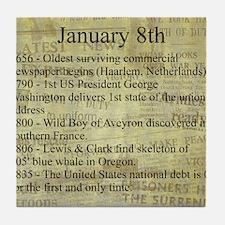 January 8th Tile Coaster