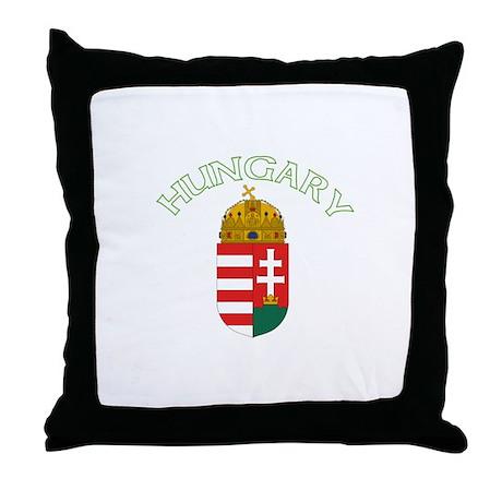 Hungary Coat of Arms (Dark) Throw Pillow