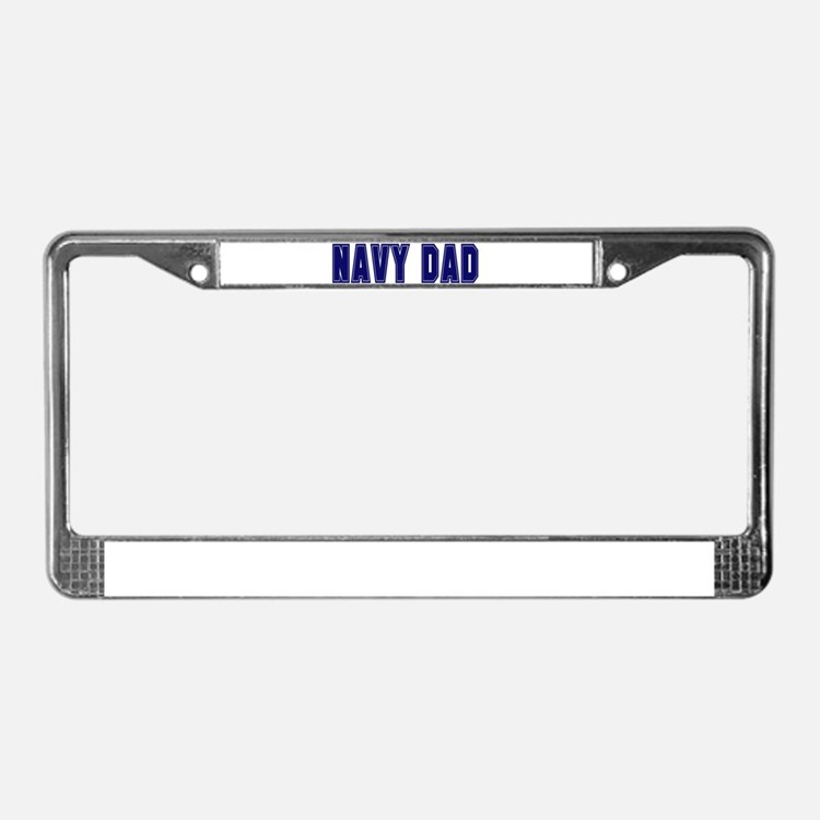 Cute Us navy dad License Plate Frame