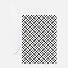 Simple black and white grid pattern  Greeting Card