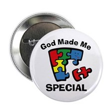 "Autism God Made Me Special 2.25"" Button"