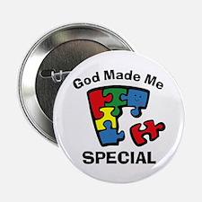 "Autism God Made Me Special 2.25"" Button"