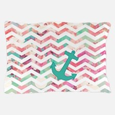 Turquoise Anchor Chevron Pink Chic Flo Pillow Case