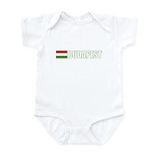 Budapest, Hungary Flag (Dark) Infant Bodysuit
