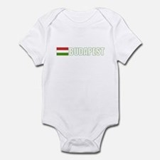 Budapest, Hungary Flag (Dark) Infant Bodysuit