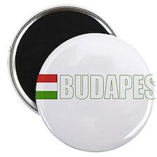"Budapest, Hungary Flag (Dark) 2.25"" Magnet (10 pac"