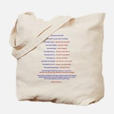 A Word On Gods Will Tote Bag