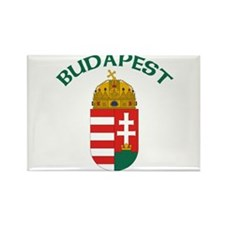 Budapest, Hungary Coat of Arm Rectangle Magnet