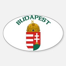 Budapest, Hungary Coat of Arm Oval Decal