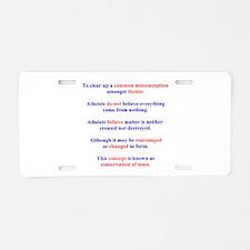 Science Lesson Aluminum License Plate